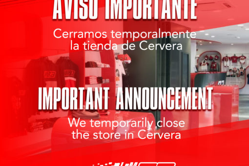 We temporarily close the store in Cervera