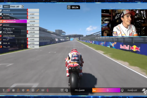 Fourth position for Marc on the third virtual race of the year